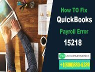 What is QuickBooks Error 15218 and How I can Resolve It?