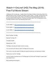 Watch~!~OnLine!! [HD] The Meg (2018) Free Full Movie Stream