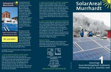 solarareal murrhardt: strom von der sonne - Gedea