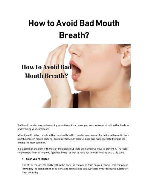 How to Avoid Bad Mouth Breath?