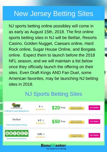 New Jersey Betting Sites