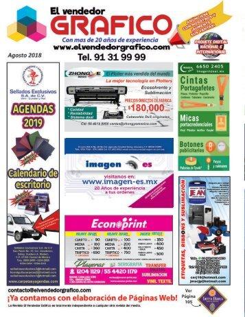 Revista El Vendedor Gráfico Agosto 2018