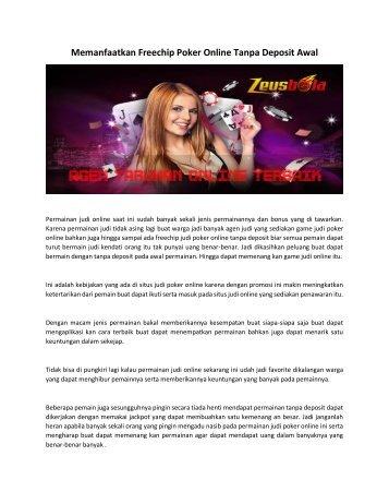 Memanfaatkan Freechip Poker Online Tanpa Deposit Awal