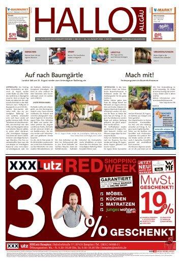 Hallo-Allgäu Memmingen vom Samstag, 11.August