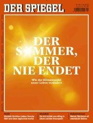 Der Spiegel Magazin No 32 vom 04. August 2018