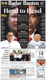 Koran Radar Banten 11 Agustus 2018