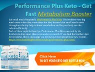 Performance Plus Keto - Get Perfect Shape Of Body