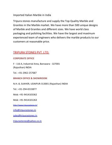 Imported Italian Marble in India
