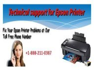 Epson Inkjet Printer Phone Number for Technical Support