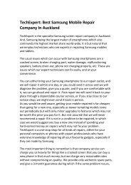 TechExpert: Best Samsung Mobile Repair Company In Auckland