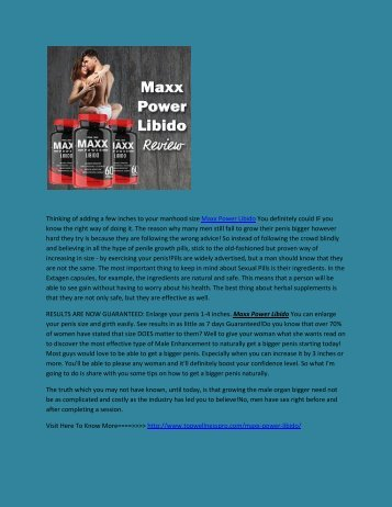 Maxx Power Libido  - Facts About Libido Health.output