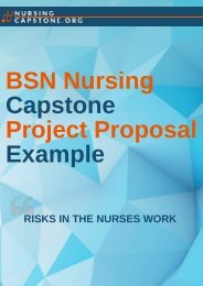 BSN Nursing Capstone Project Proposal Example
