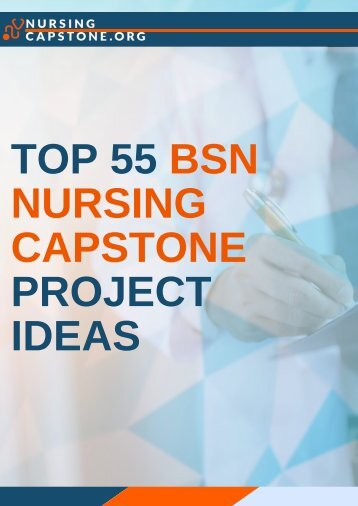 Professional BSN Nursing Capstone Project Ideas