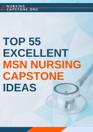 Excellent MSN Nursing Capstone Ideas