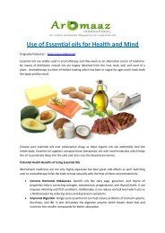 Use of Essential oils for Health and Mind