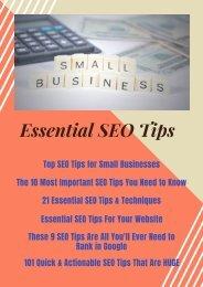Essential SEO Tips