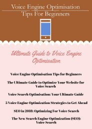 Ultimate Guide to Voice Engine Optimisation