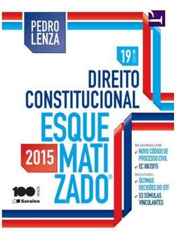 Direito Constitucional Esquematizado -  Lenza (2015)