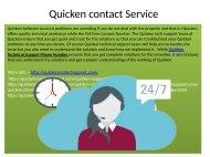 Quicken Customer service Phone Number