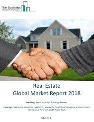 Real Estate Global Market Report 2018 Sample