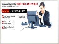 Norton support number Australia + 61-1800-431-295
