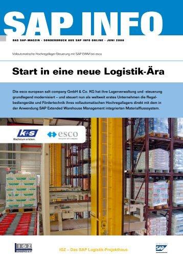 Start in eine neue Logistik-Ära - IGZ Logistics + IT GmbH