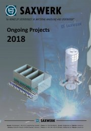 Saxwerk ongoing projects 2018