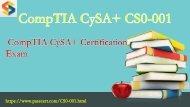 2018 valid CompTIA CySA+ CS0-001 dumps