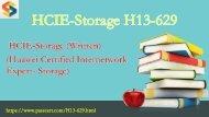 2018 valid HCIE-Storage H13-629 free download