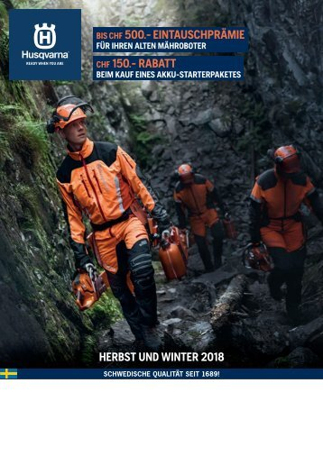 2018 Husqvarna Herbst Winter 2018