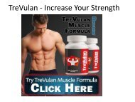 TreVulan - It's Help To Growth Your Muscle