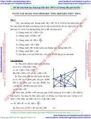 101 bài toán hình học tổng hợp kiến thức THCS (có hướng dẫn giải chi tiết)