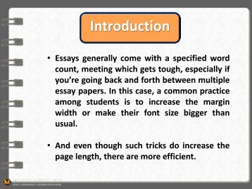 How To Make An Essay Look Longer?