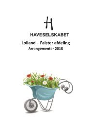 Program Haveselskabet, Lolland-Falster 2018