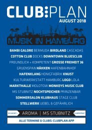 Clubplan Hamburg - August 2018