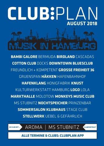 Clubplan Hamburg - August 2018