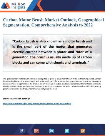 Carbon Motor Brush Market Outlook, Geographical Segmentation