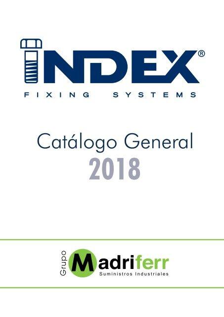 Index 184 PAESM06 Index PAESM06-Palomilla Con muelle Espiga M6 /Ø18, 50 uds.