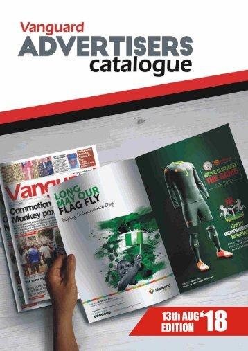 advert catalogue 13 August 2018