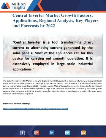 Central Inverter Market Segmentation and Analysis by Recent Trends