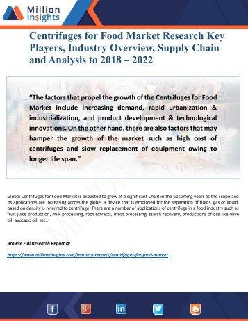 Centrifuges for Food Market Outlook, Geographical Segmentation