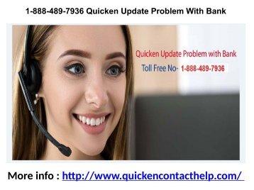 1-888-489-7936 Quicken Update Problem With Bank