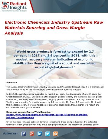 Electronic Chemicals Industry Upstream Raw Materials Sourcing and Gross Margin Analysis