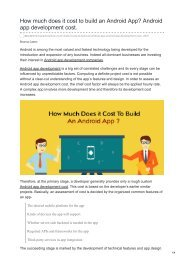 How much does it cost to build an Android App Android app development cost