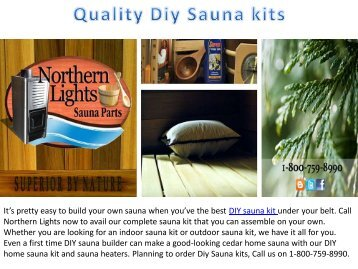 Quality Diy Sauna kits