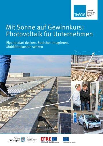 Broschüre der ThEGA Thüringen: Photovoltaik für Unternehmen
