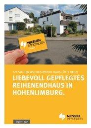 LIEBEVOLL GEPFLEGTES REIHENENDHAUS IN HOHENLIMBURG