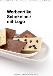 Werbeartikel Schokolade mit Logo Katalog
