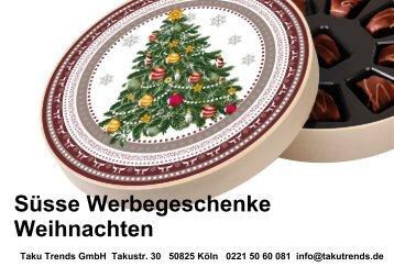Süsse Werbegeschenke Weihnachten Katalog