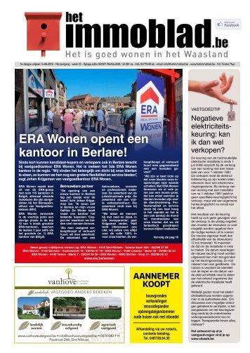 Het Immoblad van 14 augustus Editie Waasland+Lokeren